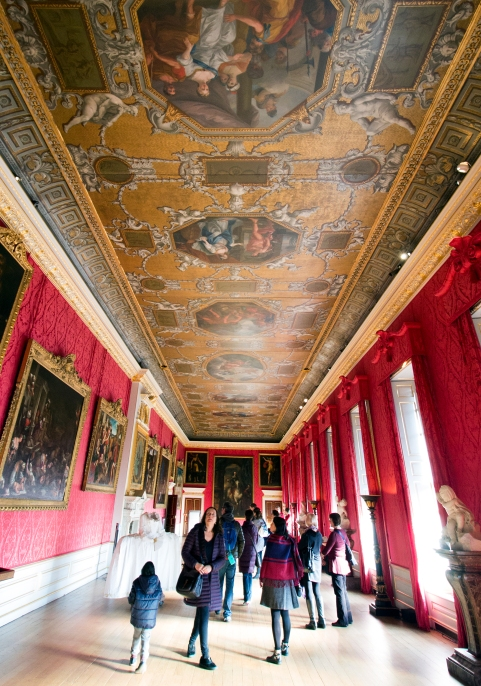 Kensington Palace interior, upstairs. The inside is huge, but feels very segmented.