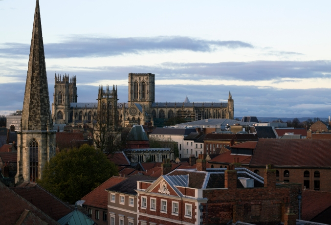 The York Minster, one of York's iconic buildings.