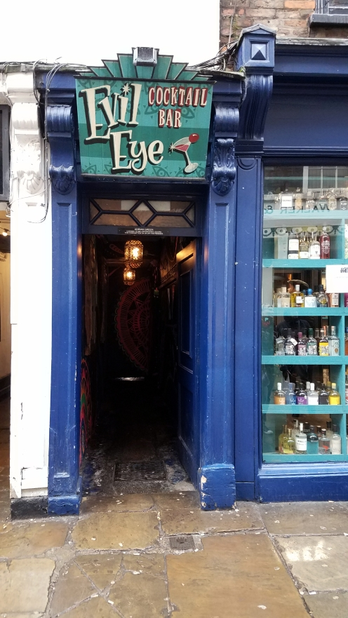The entrance to the bar I loved so much, Evil Eye. To the right is the Evil Eye gin store, which is hiring, if you're interested.